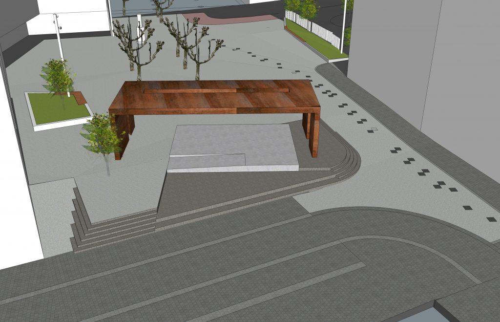 Diseño urbano, Plaza pública, Arco escultórico | Jesus Jauregui
