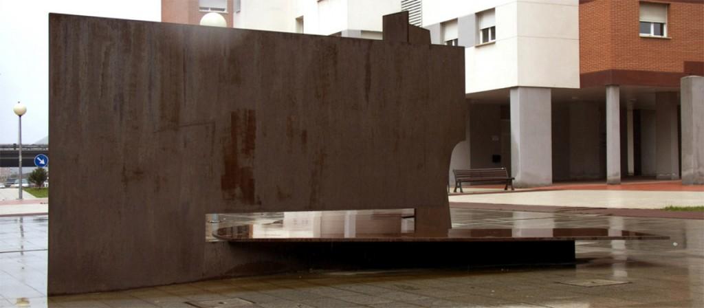 Escultura Banco BBV   Jesus Jauregui